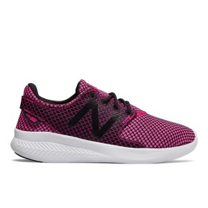 New Balance FuelCore Coast v3 - Kids Girls Running Shoes - Alpha Pink/Black/White