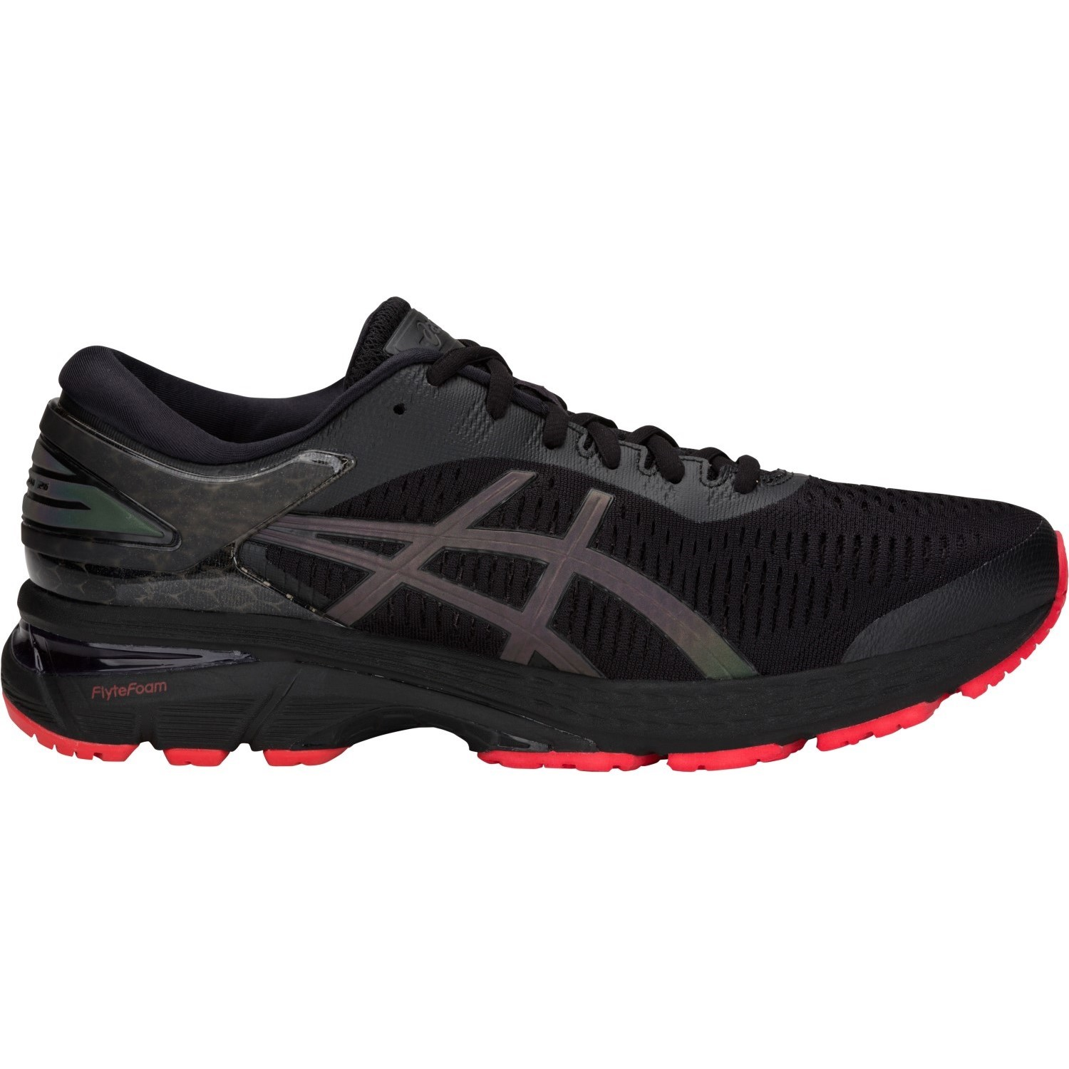 eda879c24d4 Asics Gel Kayano 25 Lite-Show - Mens Running Shoes - Black Red ...
