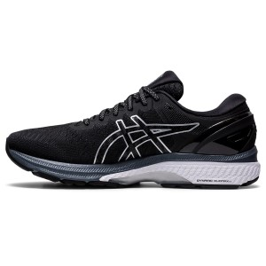 Asics Gel Kayano 27 - Mens Running Shoes - Black/Pure Silver