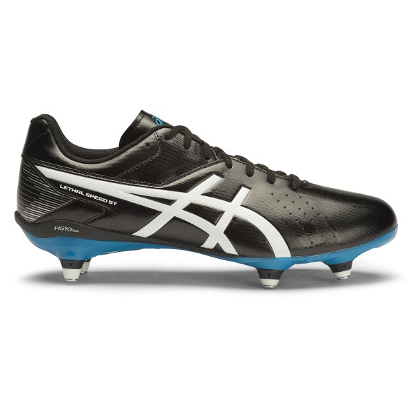 Asics Lethal Speed ST - Mens Football Boots - Black/White/Methyl Blue