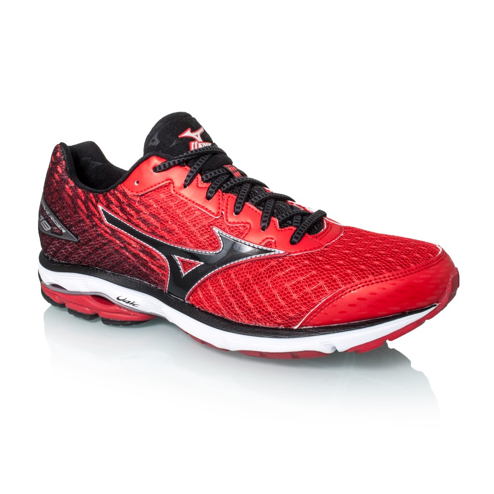 mizuno wave rider 19 mens running shoes chinese red black online sportitude. Black Bedroom Furniture Sets. Home Design Ideas