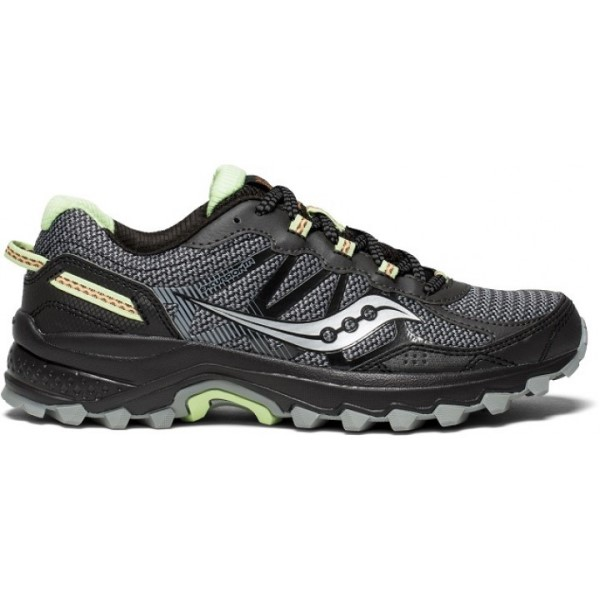 Saucony Excursion TR 11 - Womens Trail Running Shoes - Black/Lime