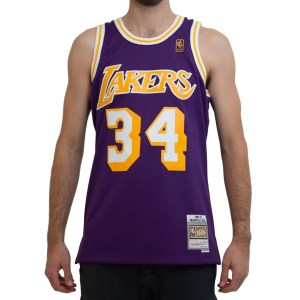 Mitchell & Ness Los Angeles Lakers Shaquille O'Neal 1996-97 NBA Swingman Mens Basketball Jersey