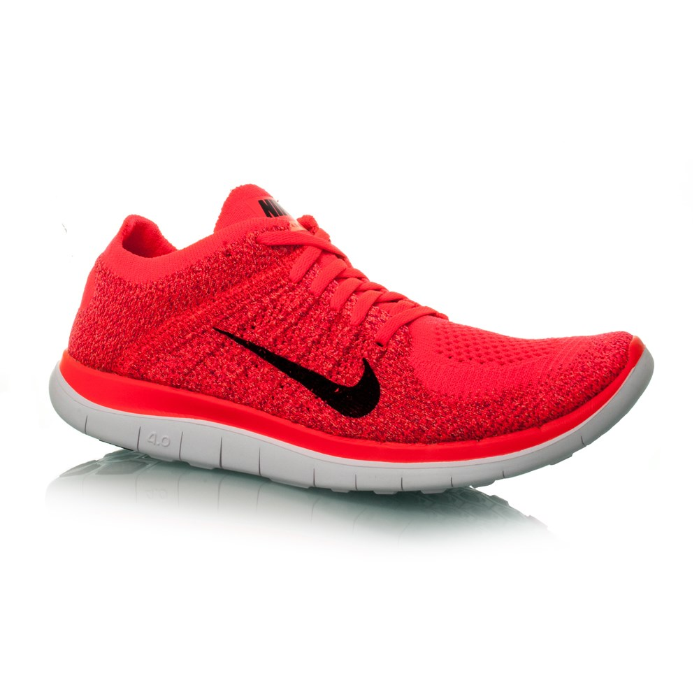 nike free flyknit 4 0 womens running shoes hyper punch black bright crimson online sportitude. Black Bedroom Furniture Sets. Home Design Ideas
