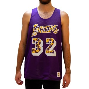 Mitchell & Ness Los Angeles Lakers Magic Johnson Reversible Mesh Mens Basketball Jersey