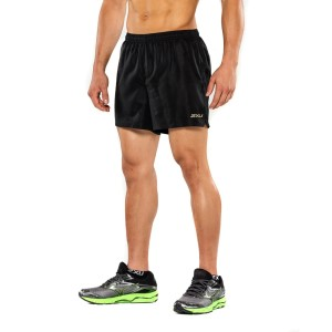 "2XU GHST 5"" Mens Running Shorts - Black/Gold"