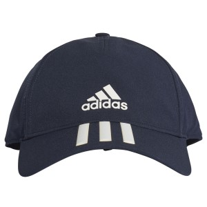 Adidas C40 3-Stripes Climalite Mens Running Cap - Legend Ink/White