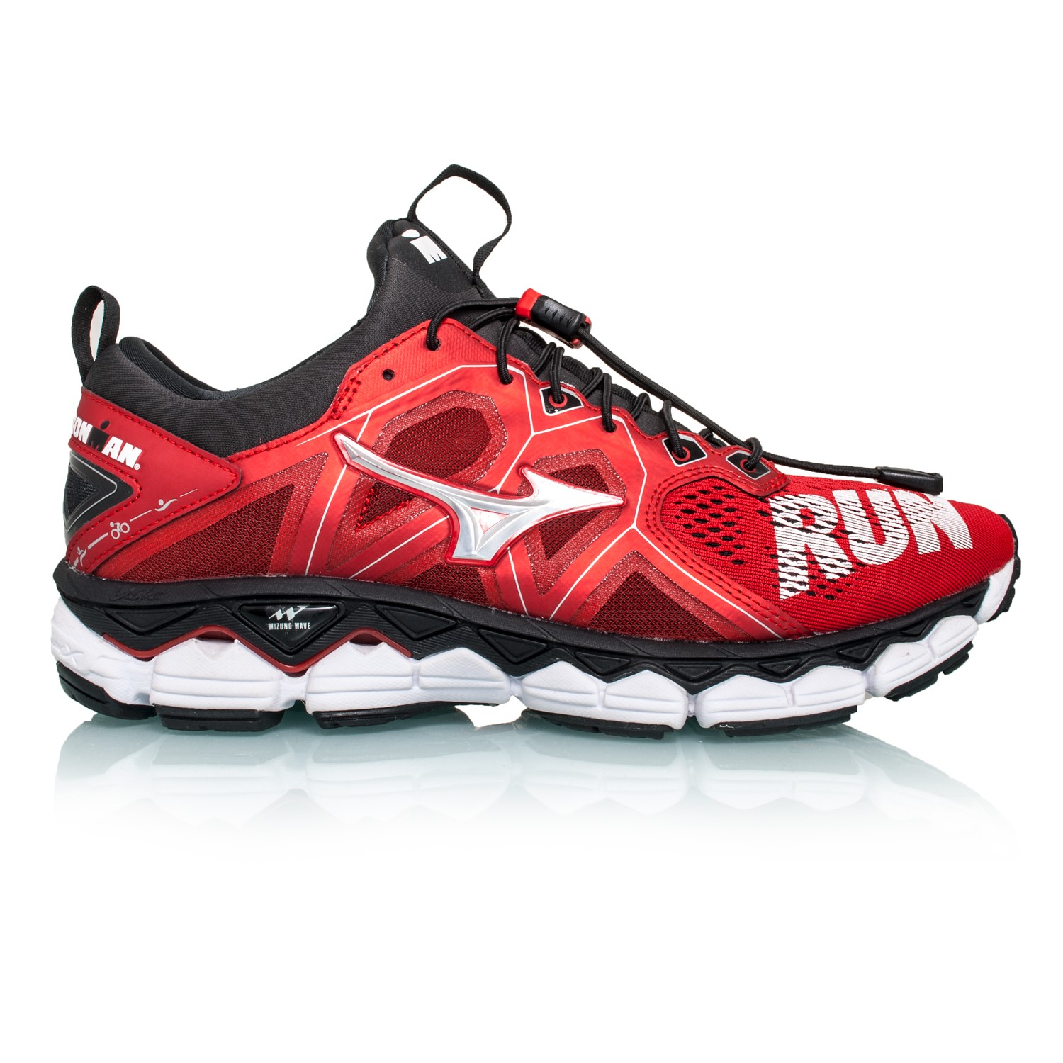 big sale 6ca02 e3e65 Mizuno Wave Sky 2 Tri IronMan Edition - Unisex Running Shoes - Red Silver