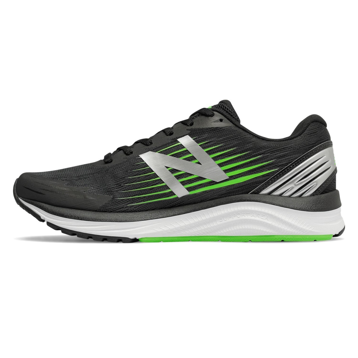 ac46f9fb89b24 New Balance Synact - Mens Running Shoes - Black/Green | Sportitude