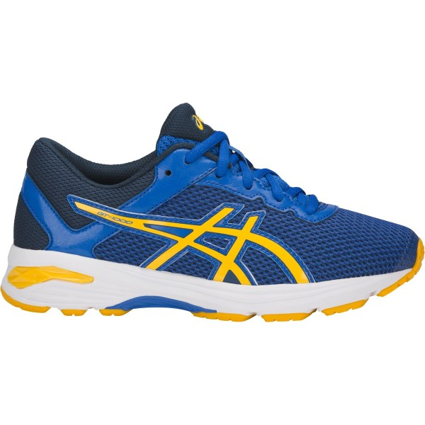 Asics GT-1000 6 GS - Kids Boys Running Shoes - Victoria Blue/Tai-Chi Yellow/Dark Blue
