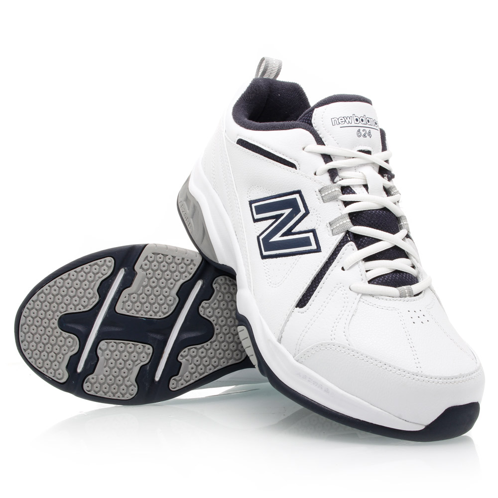 fe8b62ba227 New Balance 624 - Mens Cross Training Shoes - White/Navy | Sportitude