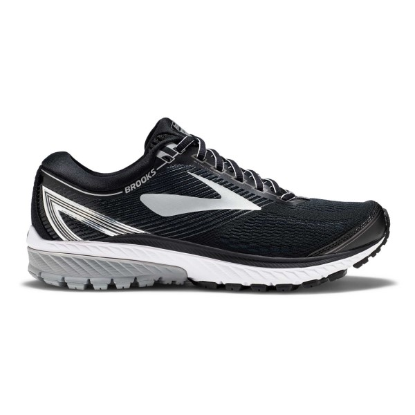 Brooks Ghost 10 - Mens Running Shoes - Black/Silver/Ebony