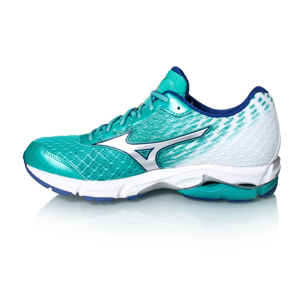 mizuno wave rider 19 womens running shoes atlantis. Black Bedroom Furniture Sets. Home Design Ideas