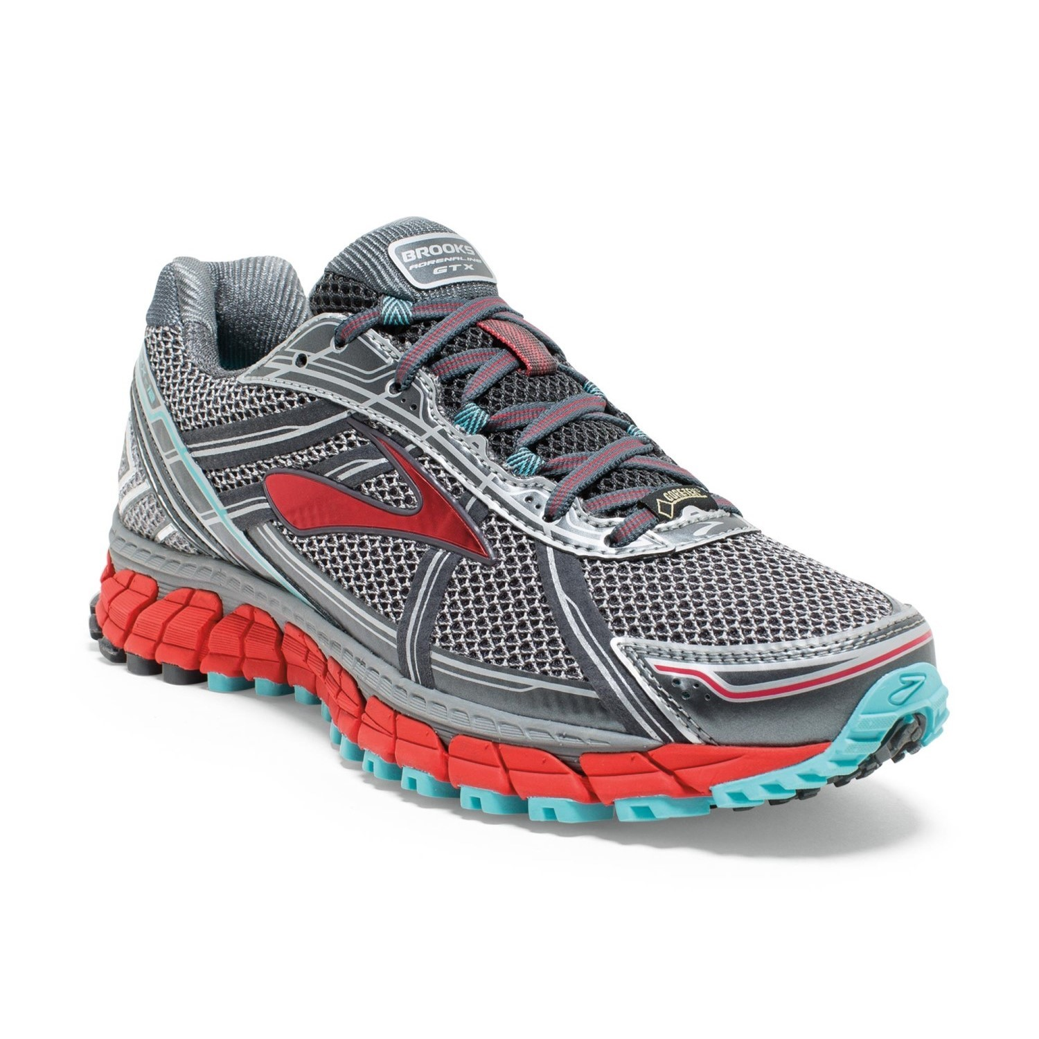 4a3a0f12b4f44 Brooks Adrenaline ASR 12 GTX - Womens Trail Running Shoes -  Anthracite Hibiscus Capri