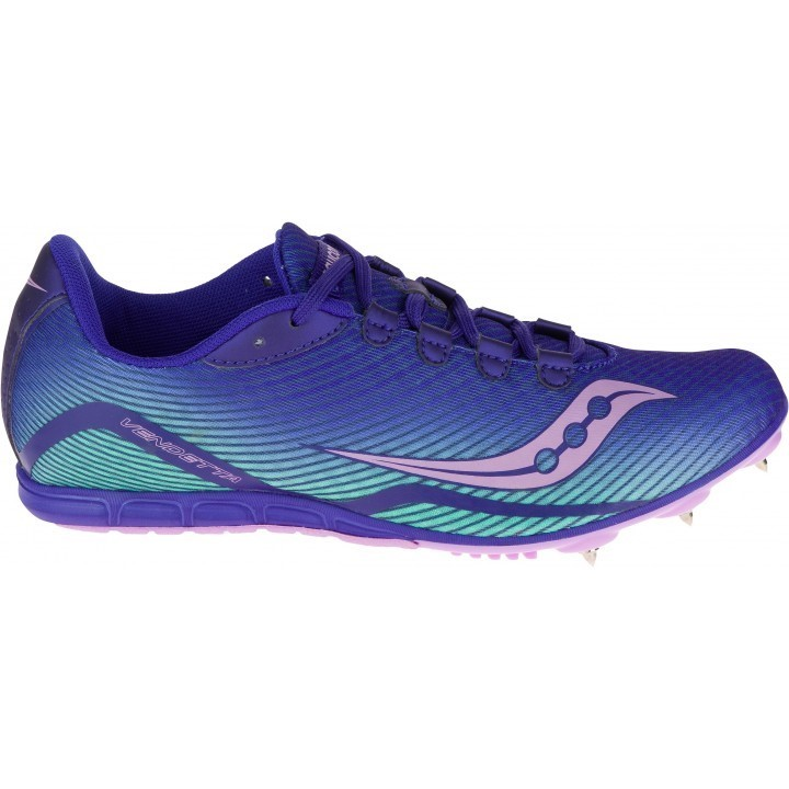 f379f6e84d41 Saucony Vendetta - Womens Long Distance Track Spikes - Purple Blue Teal Pink