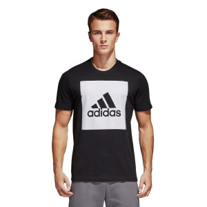 Adidas Essentials Box Logo Mens Casual T-Shirt