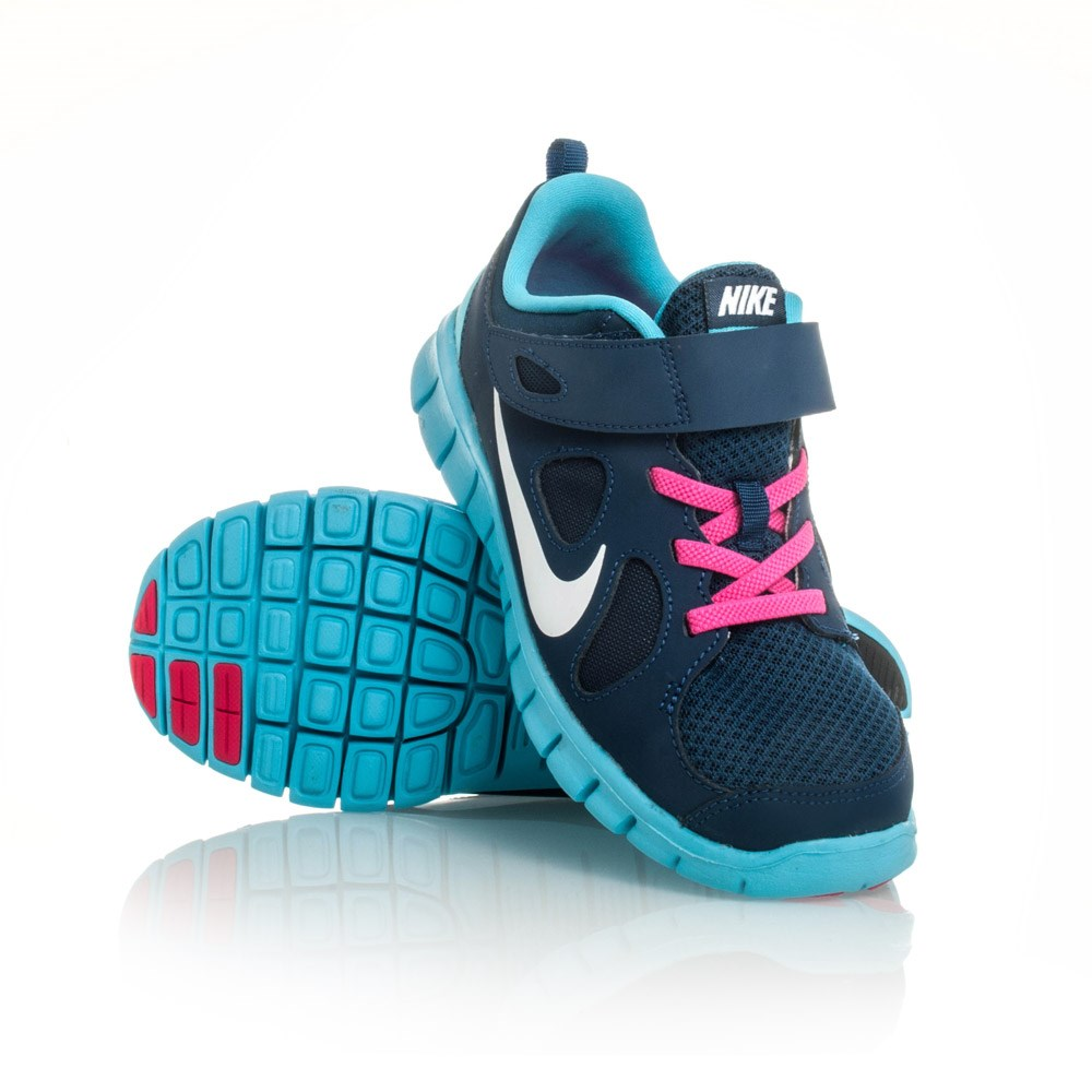 Nike Free 5.0 PSV - Kids Girls Running Shoes - Navy/Blue ...