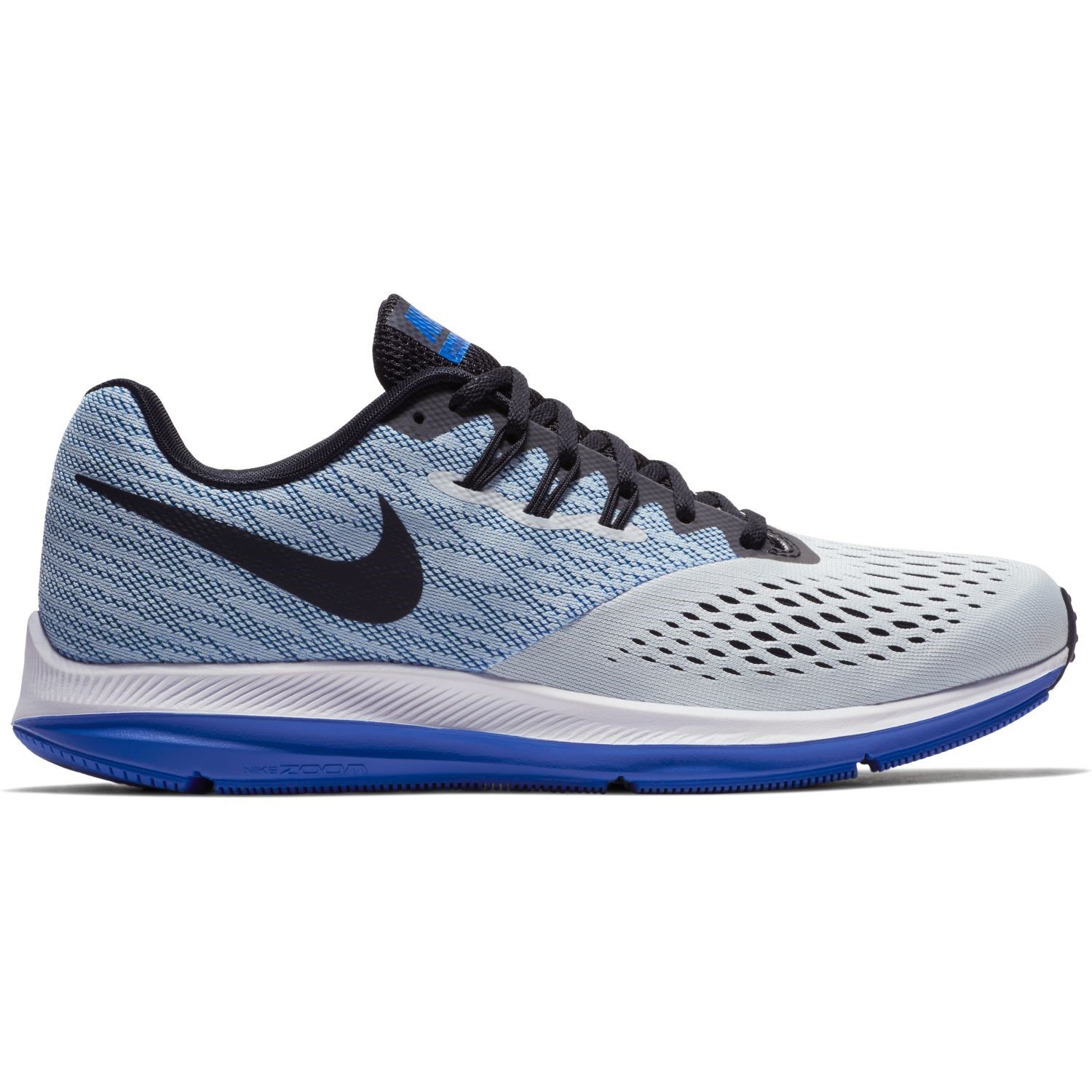 2e7a89f260a02 Nike Zoom Winflo 4 - Mens Running Shoes - Pure Platinum Black Hyper Royal