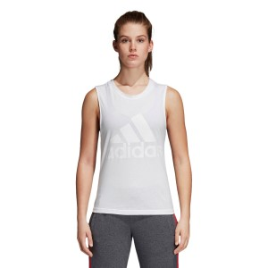 Adidas Essentials Logo Womens Casual Tank Top