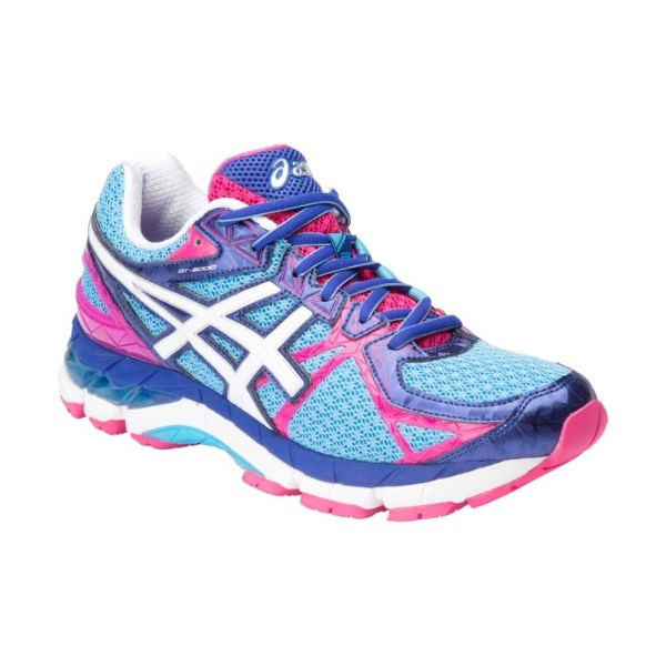 asics gt 3000 3 womens running shoes soft blue white. Black Bedroom Furniture Sets. Home Design Ideas