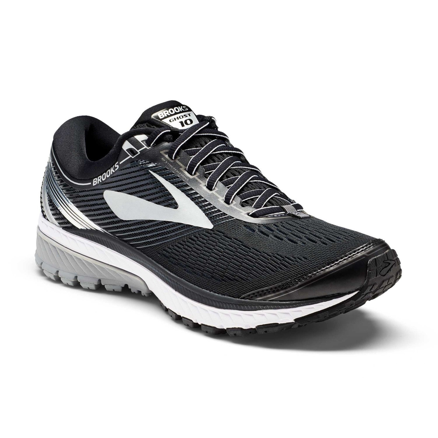 ff00608a58be4 Brooks Ghost 10 - Mens Running Shoes - Black Silver Ebony