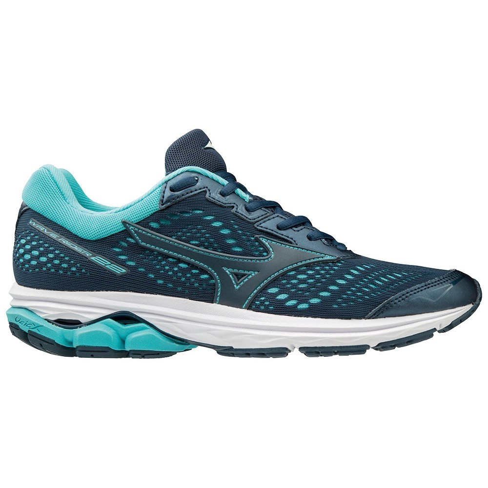 af2108f64edec Mizuno Wave Rider 22 - Womens Running Shoes - Blue Wing Teal/Hibiscus