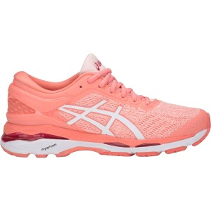 Asics Gel Kayano 24 - Womens Running Shoes - Seashell Pink/White/Begonia Pink