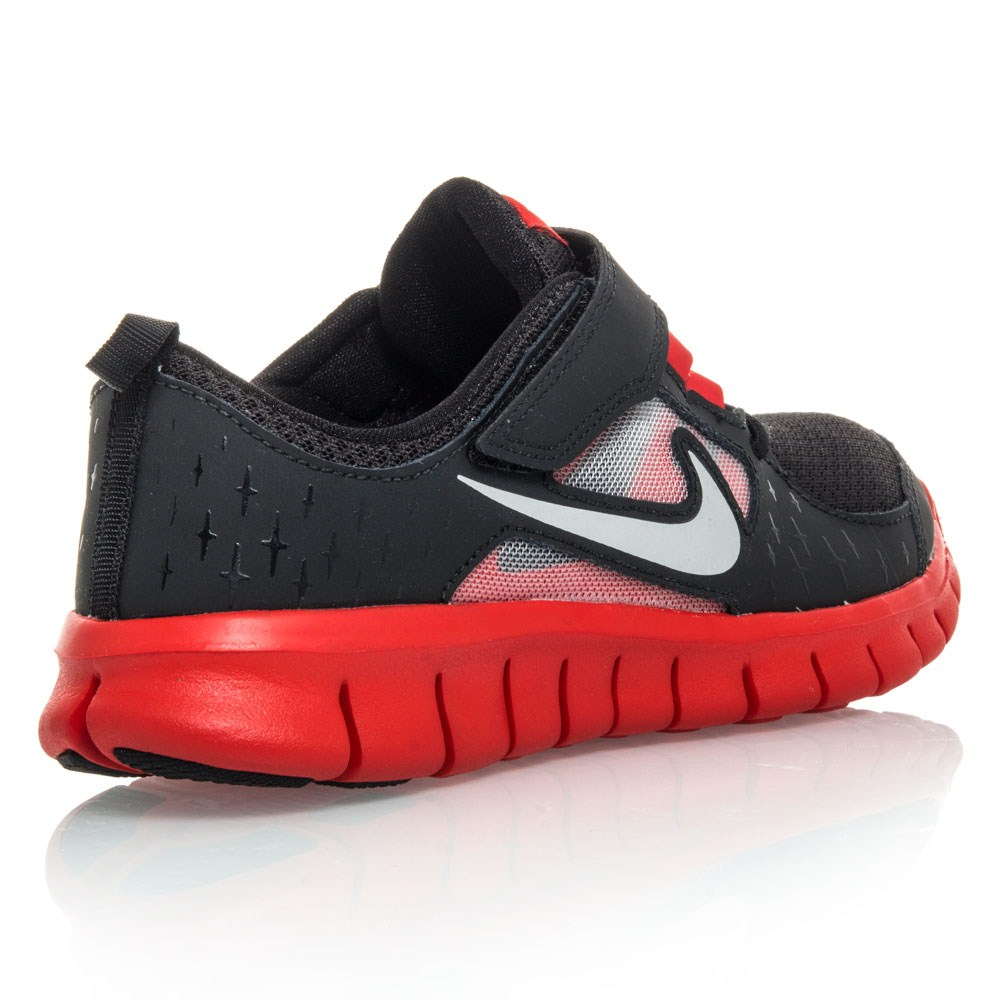 nike free run 3 psv pre school boys running shoes black red white online sportitude. Black Bedroom Furniture Sets. Home Design Ideas