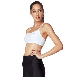 Running Bare 448 Womens Sports Push Up Crop Top