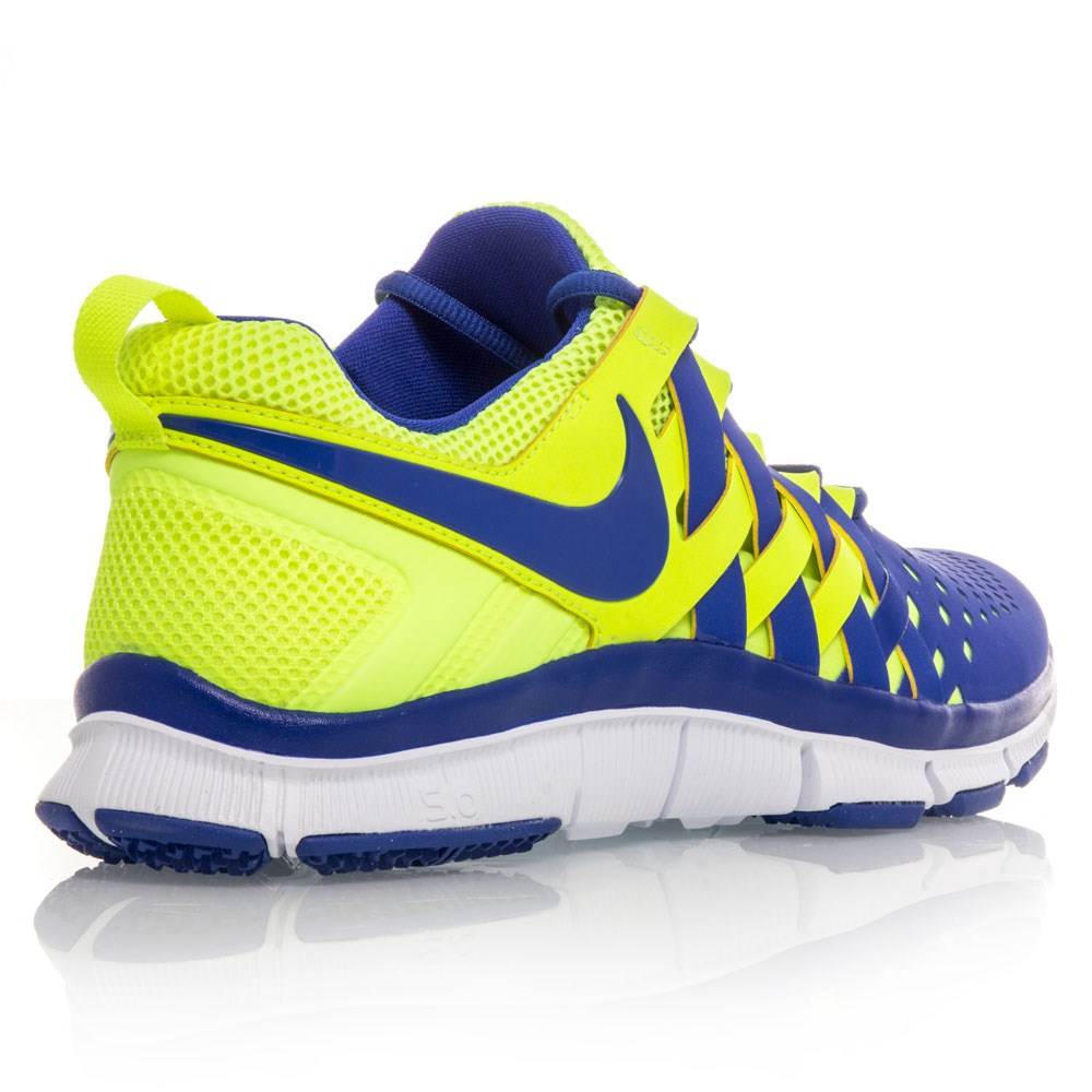 nike free trainer 5 0 mens training shoes blue yellow. Black Bedroom Furniture Sets. Home Design Ideas