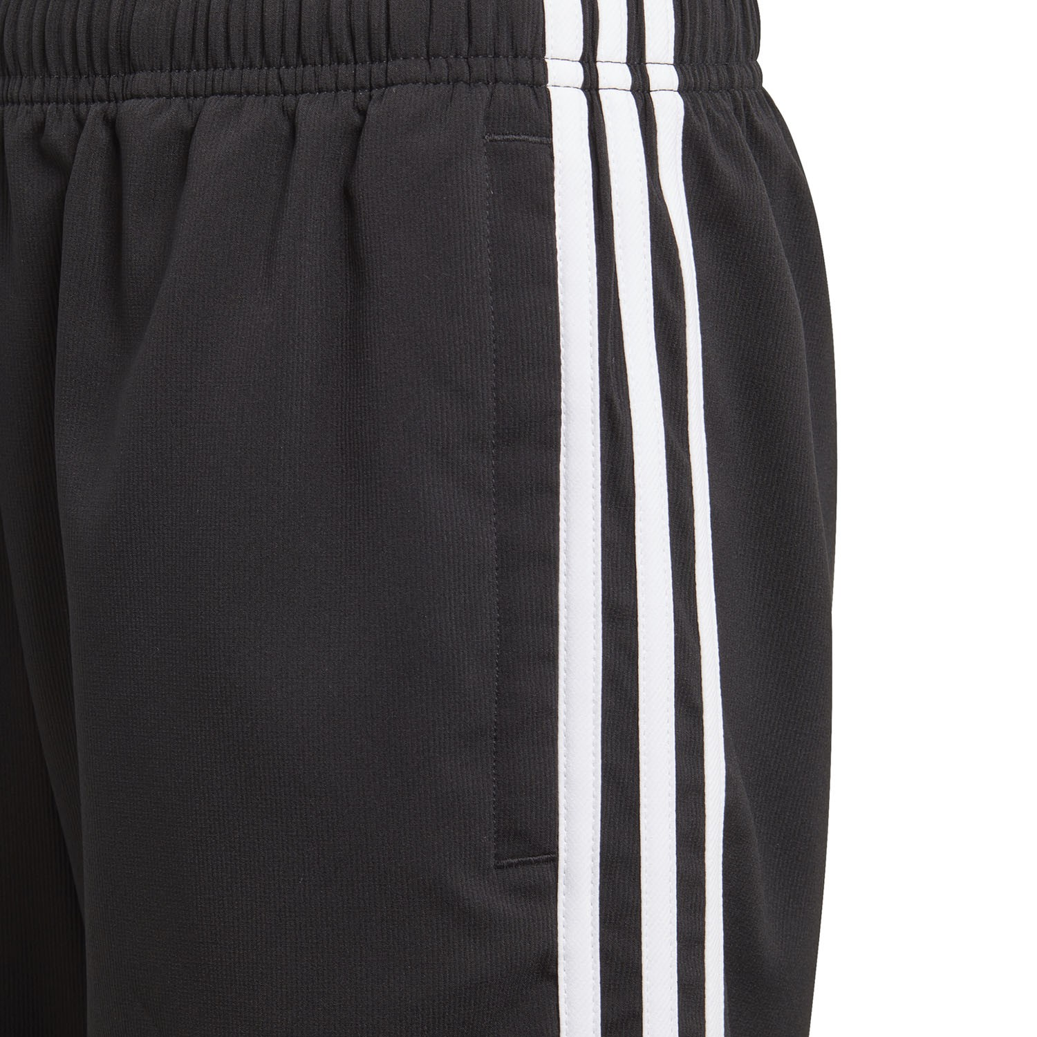23b57b752b46f9 Adidas Essentials 3-Stripe Woven Kids Boys Training Shorts - Black White
