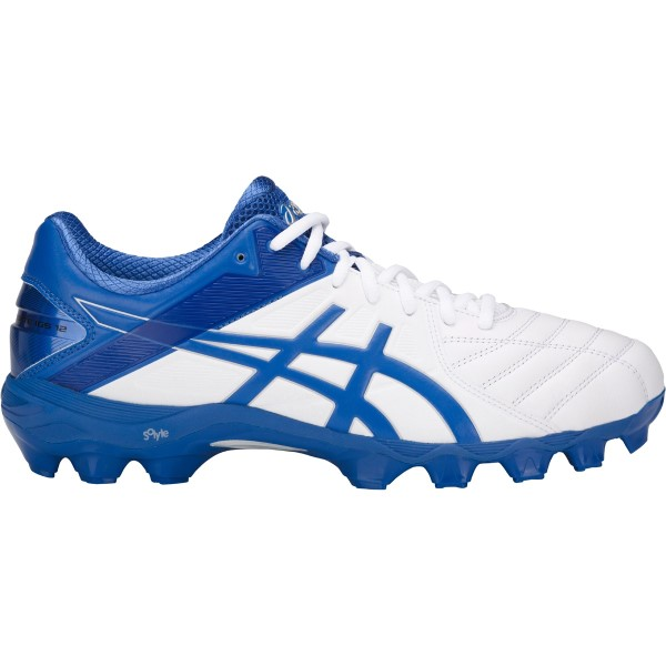 Asics Gel Lethal Ultimate IGS 12 - Mens Football Boots - White/Victoria Blue/Silver