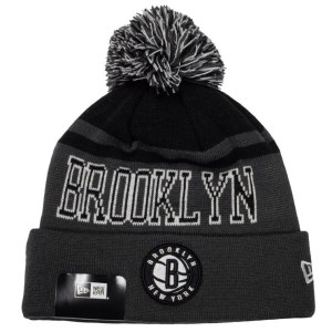 New Era Brooklyn Nets Knit Pom Basketball Beanie