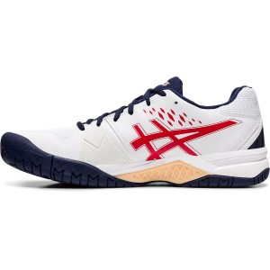 Asics Gel Challenger 12 Hardcourt - Mens Tennis Shoes - White/Classic Red
