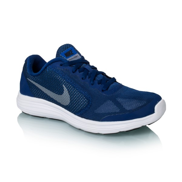 604ebecaf95 Nike Revolution 3 GS - Kids Boys Running Shoes - Deep Royal Blue Metallic  Grey