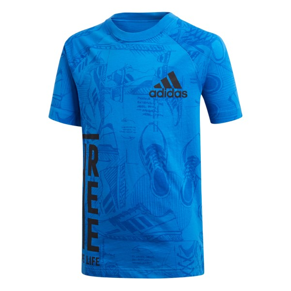 Adidas ID Print Kids Boys Casual T-Shirt - Blue/Collegiate Navy