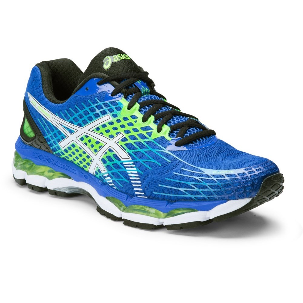 asics gel nimbus 17 mens running shoes royal white flash green online sportitude. Black Bedroom Furniture Sets. Home Design Ideas