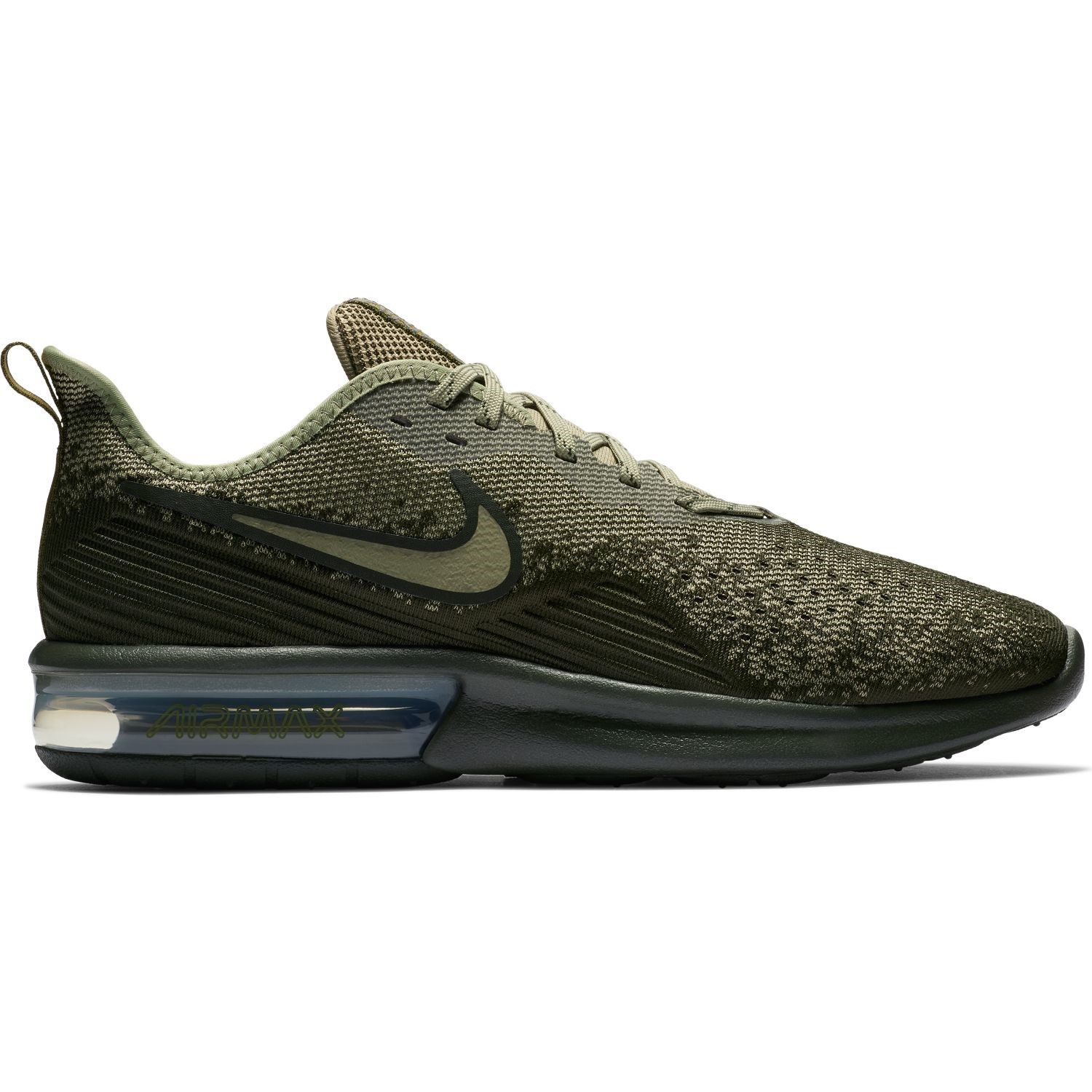 7d5e026b3a9 Nike Air Max Sequent 4 - Mens Running Shoes - Cargo Khaki Peat Moss ...