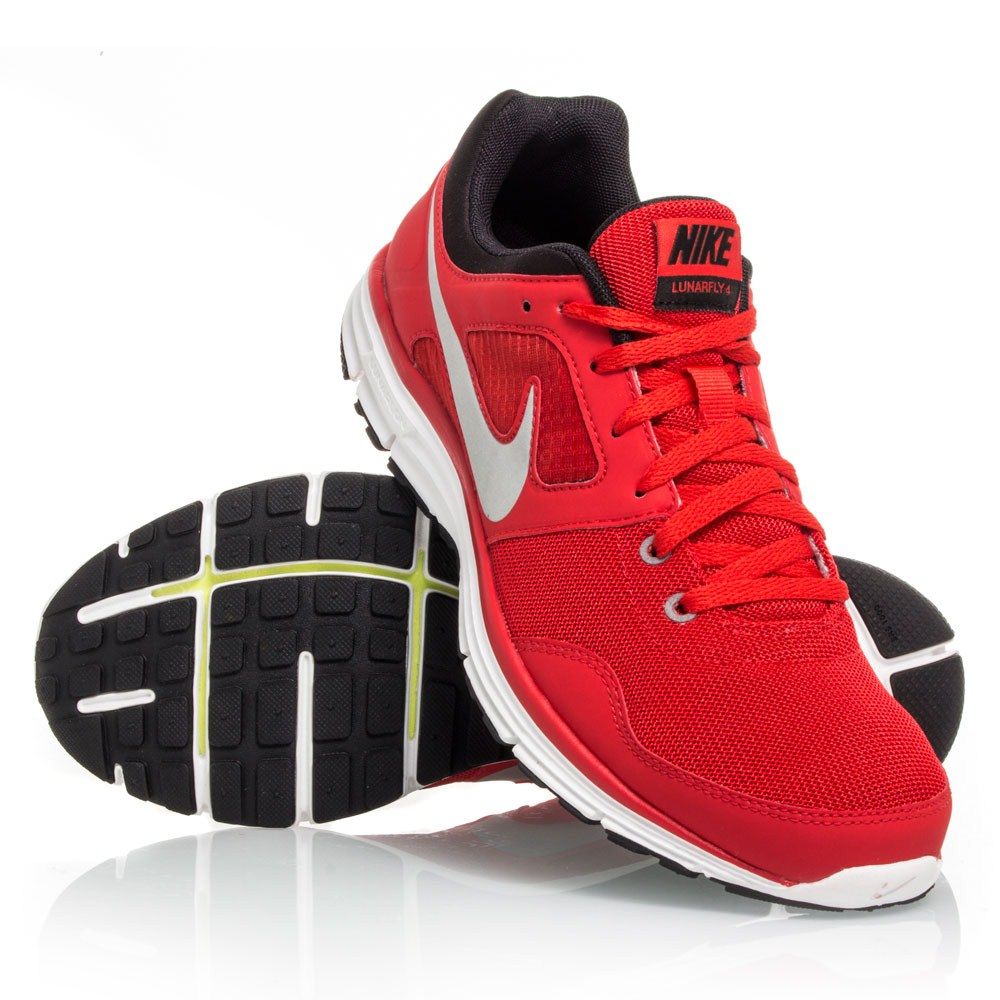 Nike LunarFly+ 4 - Mens Running Shoes - Red White Black  fe60ef081d01