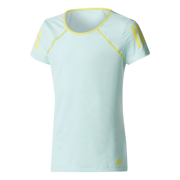 Adidas Club Kids Girls Tennis T-Shirt - Energy Aqua/Bright Yellow