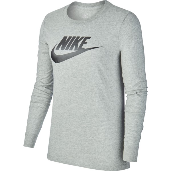 Nike Sportswear Essential Icon Womens Long Sleeve T-Shirt - Grey