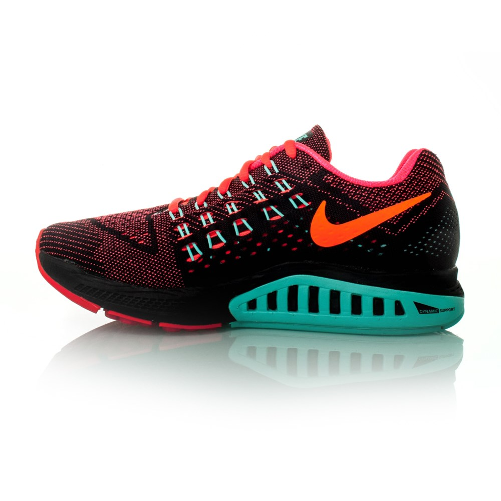 a660e61283ec Nike Zoom Structure 18 - Womens Running Shoes - Hyper Punch Black Total  Orange