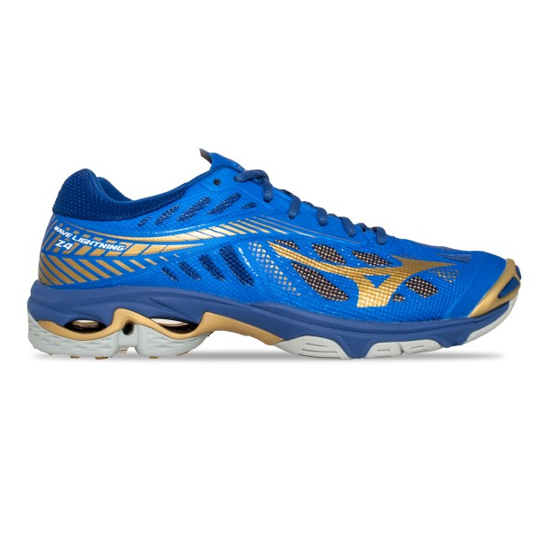 Mizuno Wave Lightning Z4 - Mens Court Shoes - Blue/Gold/Surf the Web