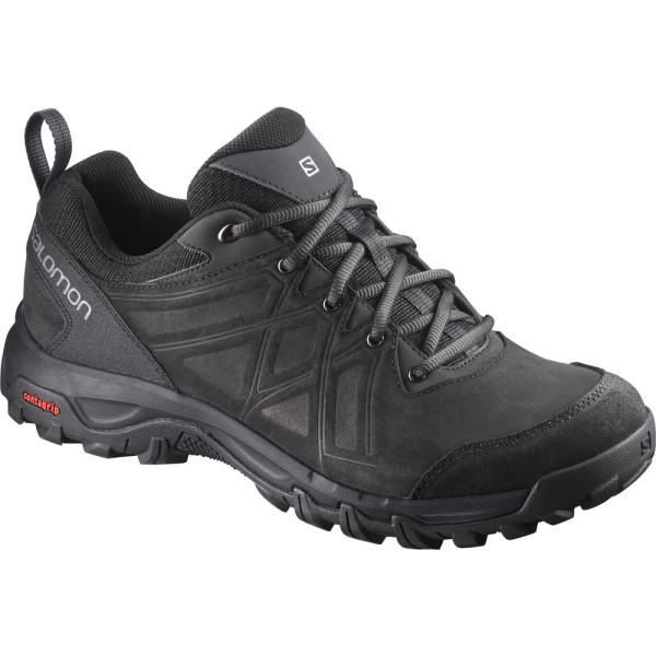 Salomon Evasion 2 Leather - Mens Trail Walking Shoes - Black/Quiet Shade