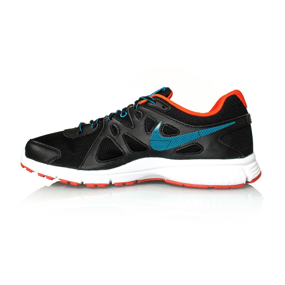 eefe22334a72c Nike Revolution 2 MSL - Mens Running Shoes - Black Blue Lagoon Orange