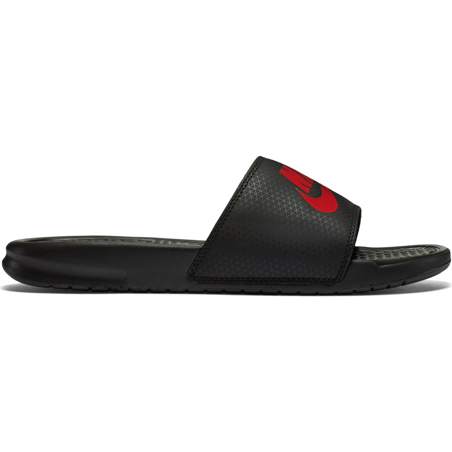 dc0b00ca54a Nike Benassi Just Do It - Mens Slides - Black Challenge Red