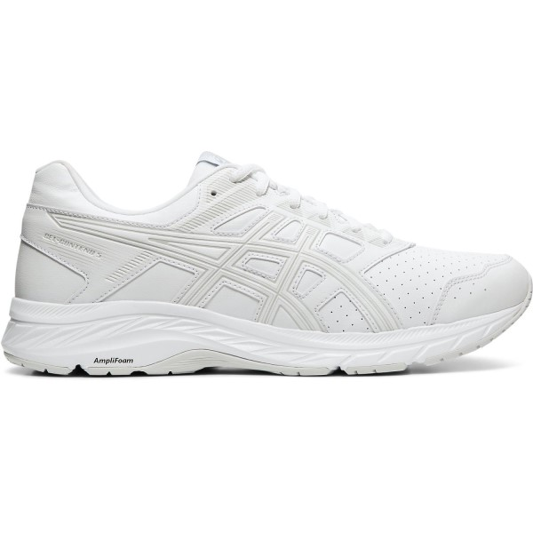 Asics Gel Contend 5 SL - Mens Walking Shoes - White/Glacier Grey
