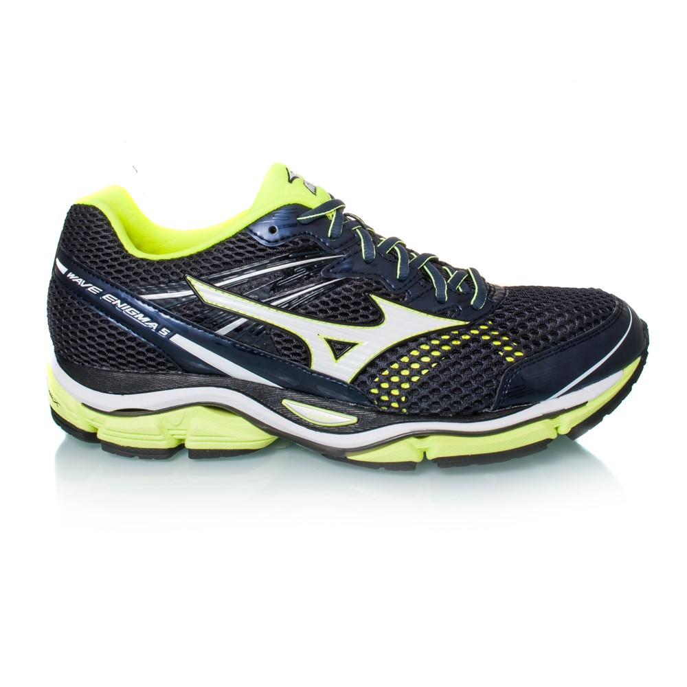mizuno wave enigma 5 mens running shoes ombre blue volt online sportitude. Black Bedroom Furniture Sets. Home Design Ideas