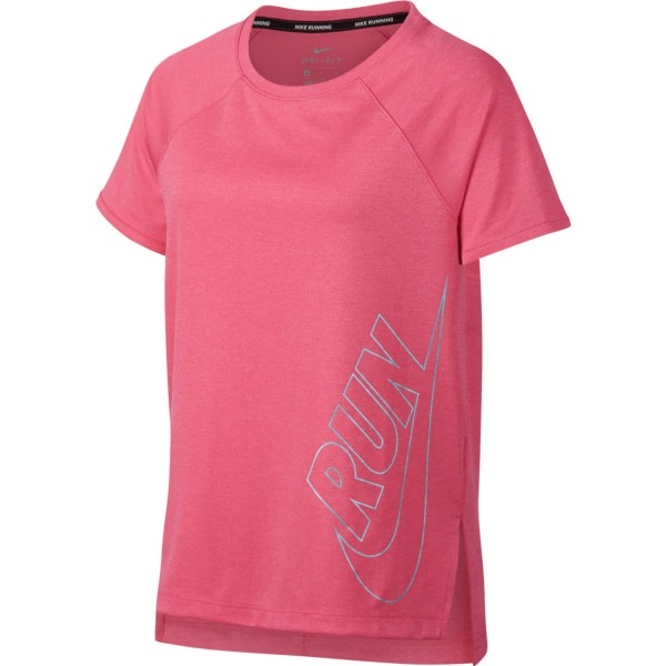 Nike Dri-Fit Kids Girls Running T-Shirt - Sea Coral