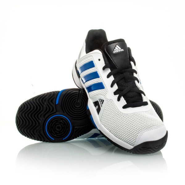 e032d5d4109a ... spain adidas barricade 8 xj kids boys tennis shoes white blue black  5a5cd a9f02 ...